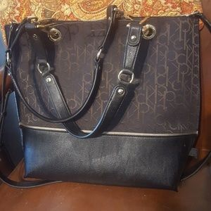 Calvin Klein tote and pouch
